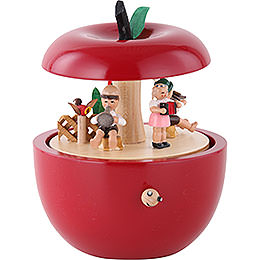 Spieldose Apfel Kinderkonzert  -  14cm