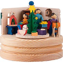 Spieldose Weihnachtsstube  -  8,5cm