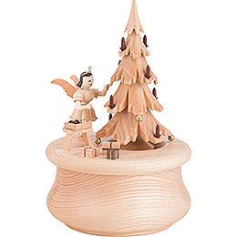 """Spieldose """"Weihnachtstraum"""" mit Baum und 1 Engel  -  12x17,5cm"""