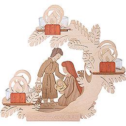 Tea Light Candle Holder  -  Nativity  -  15cm / 6 inch