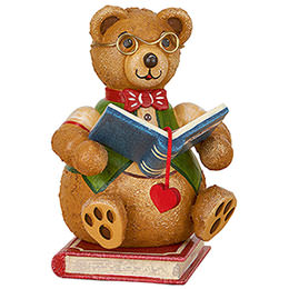 Teddy mini  -  Bookworm  -  7cm / 2.8 inch