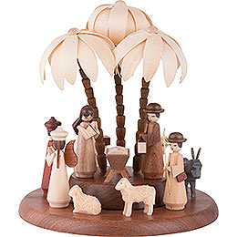 Theme Platform for Electr. Music Box  -  Nativity  -  17cm / 7 inch
