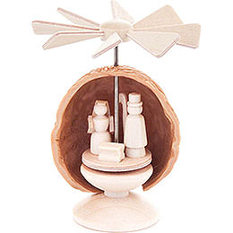 Thermic Nutshell - Pyramid with Nativity  -  5,5cm / 2.2 inch