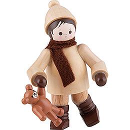 Thiel - Figur Winterkind mit Teddy  -  6cm