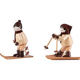 Thiel - Figuren Abfahrtsläufer  -  natur  -  2 - teilig  -  6,5cm