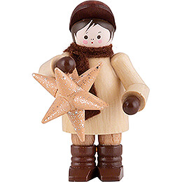 Thiel Figurine  -  Man with Star  -  6cm / 2.4 inch