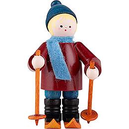 Thiel Figurine  -  Skier  -  bordeauxrot  -  6,5cm / 2.6 inch