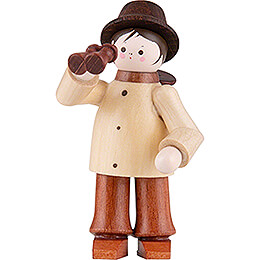 Thiel Figurine  -  Spy with Binoculars  -  natural  -  5,5cm / 2.2 inch