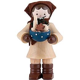 Thiel Figurine  -  Woman with Bowl  -  6cm / 2.4 inch