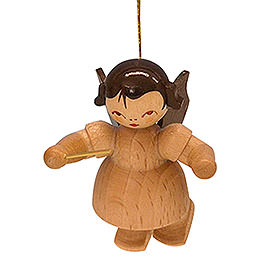 Tree Ornament  -  Angel Conductor  -  Natural Colors  -  Floating  -  5,5cm / 2,1 inch