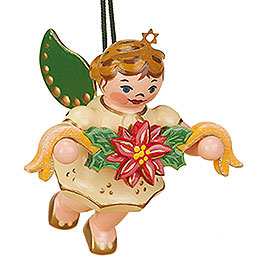 Tree Ornament  -  Angel with Garland  -  6cm / 2,5 inch
