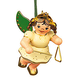 Tree Ornament  -  Angel with Triangle  -  6cm / 2,5 inch