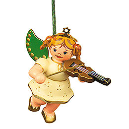 Tree Ornament  -  Angel with Violin  -  6cm / 2,5 inch