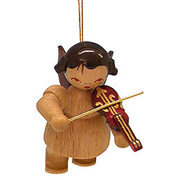 Tree Ornament  -  Angel with Violin  -  Natural Colors  -  Floating  -  5,5cm / 2,1 inch