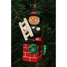 Tree Ornament  -  Chimney Sweep on Chimney  -  3,0x7,8cm / 1x3 inch