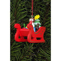 Tree Ornament  -  Christmas Sleigh  -  5,8x5,3cm / 2.3x2.1 inch