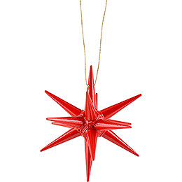 Tree Ornament  -  Christmas Star Red  -  7cm / 2.8 inch