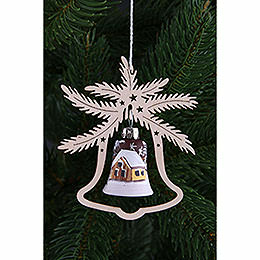 Tree Ornament  -  Hand Painted Glass Bell Ice Princess, Set of Three  -  9x8cm / 3.5x3. inch