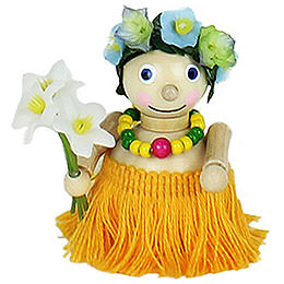 Tree Ornament  -  Hawaiian Girl  -  7cm / 2.8 inch