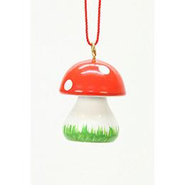 Tree Ornament  -  Mushroom  -  1,8x2,4cm / 1x1 inch