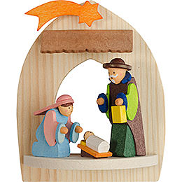 Tree Ornament  -  Nativity with Holy Family, Natural  -  8,5cm / 3.3 inch