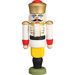 Tree Ornament  -  Nutcracker  -  King White  -  9cm / 3.5 inch