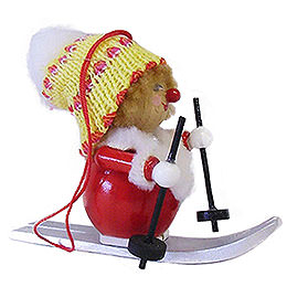 Tree Ornament  -  Skier  -  8cm / 3.1 inch
