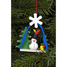 Tree Ornament  -  Snowman  -  7,4x6,3cm / 3x2 inch