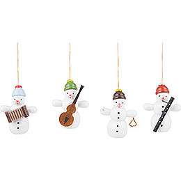 Tree Ornament Snowman Quartet  -  6cm / 2.4 inch