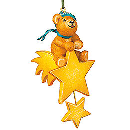 Tree Ornament  -  Teddy Star Rider  -  7cm / 3 inch