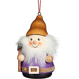 Tree Ornament Teeter Man Dwarf with Pick  -  8cm / 3.1 inch