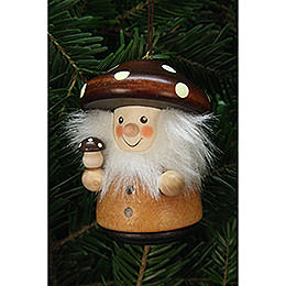 Tree Ornament  -  Teeter Man Mushroom Man Natural  -  7,8cm / 3.1 inch
