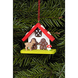 Tree Ornament  -  Witch House with Bambi  -  7,0x5,5cm / 2.8x2.2 inch