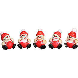 Tree Ornaments Ball  -  Figures Santa Claus  -  5 - tlg.  -  4cm / 1.6 inch