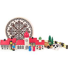 Village in Wood Chip Box  -  5,5cm / 2.2 inch