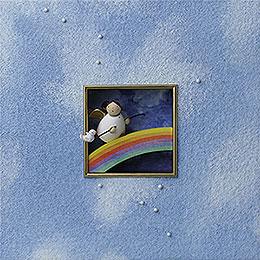 """Wandbild """"Für Mutige""""  -  18x18x5cm"""