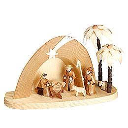 Weihnachtskrippe  -  Grotte  -  15cm