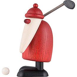 Weihnachtsmann mit Golfschläger oben  -  10cm