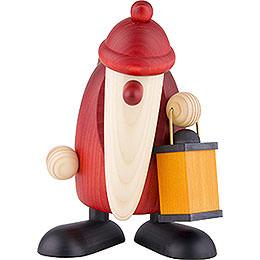 Weihnachtsmann mit Laterne  -  19cm