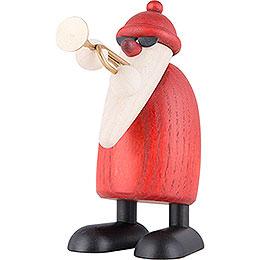 Weihnachtsmann mit Trompete  -  9cm