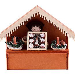 Weihnachtsmarktbude Christbaumschmuck mit Thiel - Figur  -  8cm