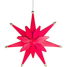 Window Picture  -  Christmas Star Red  -  40cm / 15.7 inch
