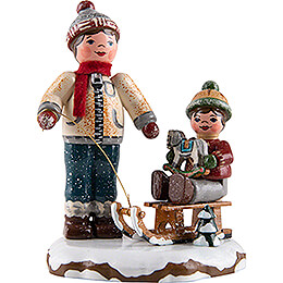 Winter Children Best Friends  -  8cm / 3.1 inch