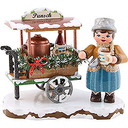 Winter Children Glogg Cart  -  8cm / 3.1 inch