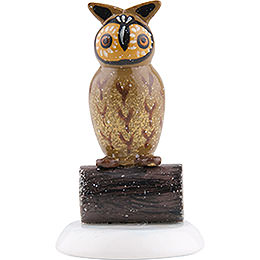 Winter Children Set of Four Owl  -  3,5cm / 1,5 inch