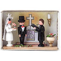 Zündholzschachtel Hochzeit  -  4cm