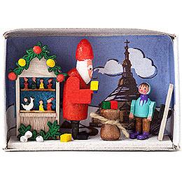 Zündholzschachtel Weihnachtszeit  -  4cm
